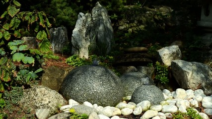 fountain stone  and Japanese garden