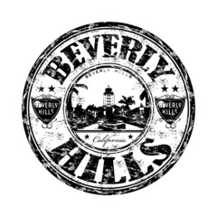 Beverly Hills grunge rubber stamp