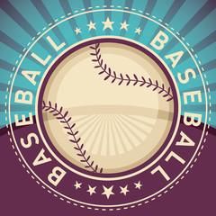 Baseball poster.