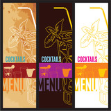 Cocktails Menu Card Design template. Menu template for bar.
