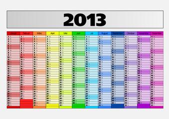 Kalender 2013 groß mit Platzhalter Vektor