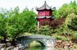 Image en HDR-Temple Chinois avec petit pont et de l'eau-horiz.