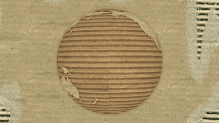 Corrugated Cardboard Earth rotating. Loopable.