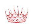 crown made from wine splash