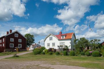 Der kleine Küstenort Pataholm in Småland, Schweden