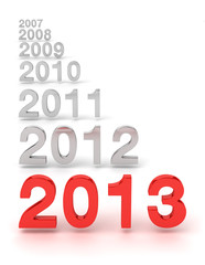 2012-2013 New year concept