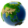 Detailed concept nature of the Earth in miniature