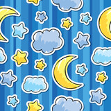 pattern with night sky