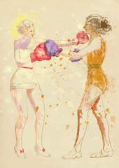 boxing women