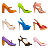 Multicolored female shoes-20