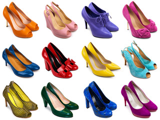 Multicolored female shoes-1