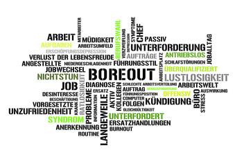 boreout stichwortwolke