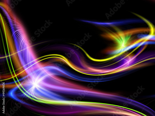 Deurstickers Abstract wave abstract colorful design