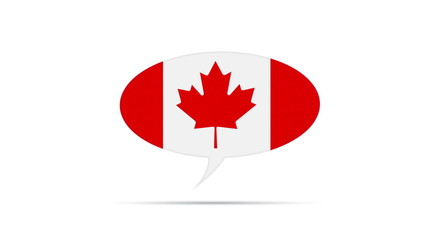Canada Flag Speech Bubble