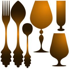Cutlery golden set