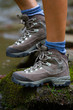 Hiking boots, hiker, tourism in mountains