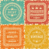 Set of Vintage Labels. Retro Style, Grunge Effect
