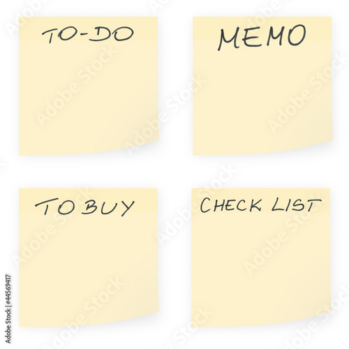 Emptysticky notes and to-do lists