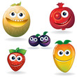 Funny Fruits Series: Strawbery, Pomegranate, Melon...etc