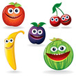 Funny Fruits: Apple, Cherry, Banana, Prune, Melon
