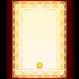Blank Template of Golden Diploma