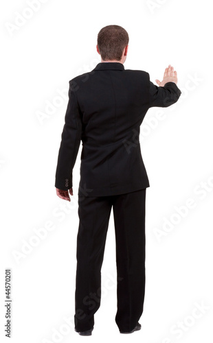 back view of Businessman .