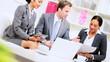 Male Caucasian Business Executive Informal Meeting