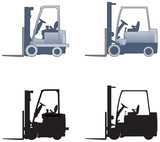 Forklift trucks elevations