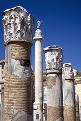 View of the Trajan's Column from the Trajan's Market