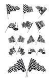 Fototapety Checkered Flags set