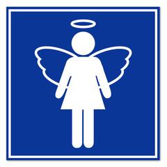 Señal angel femenina