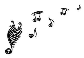 Noten, Musiknoten, Musik, Herz, Liebe, Freiheit