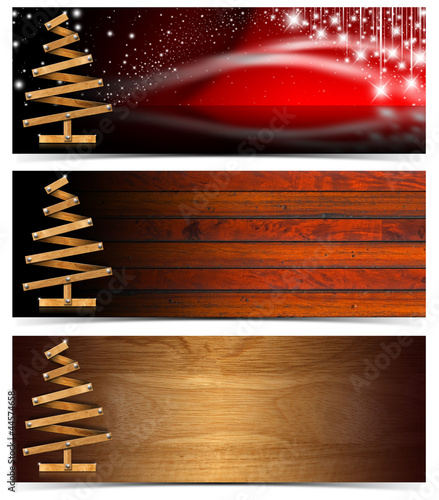 Set of Horizontal Christmas Banners