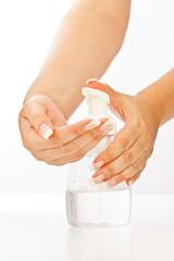 Hand soap gel pump