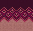 Beautiful Knitted Fabric Pattern, Red Pink Knit Style Seamless V
