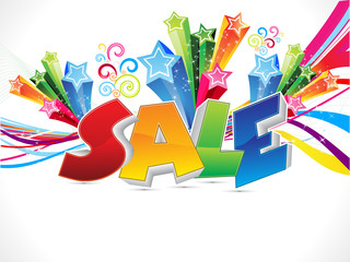abstract colorful sale text