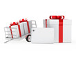 gift boxes red ribbon