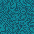 Seamless abstract blue hand drawn pattern. Vector illustration