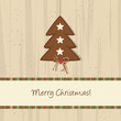 Brown Christmas Tree Background