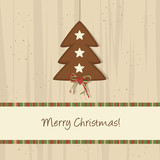 Fototapety Brown Christmas Tree Background