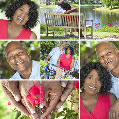 Happy Senior African American Couple Outside