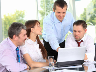 business team in business meeting
