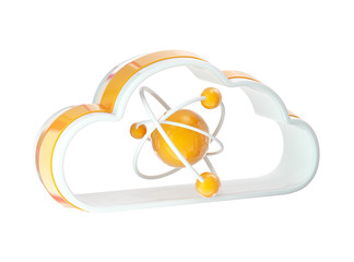 Science and cloud technology icon