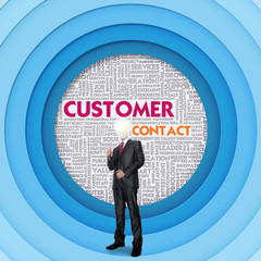 Business word cloud for business concept, Customer Contact