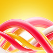 Abstract glossy spiral twirls background
