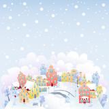Fototapety Winter town