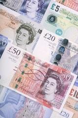 Britische Banknoten Pfund