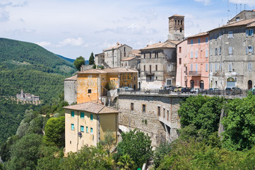 Panoramic view of Narni. Umbria. Italy.