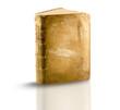 libro pergamena memoria antica su bianco