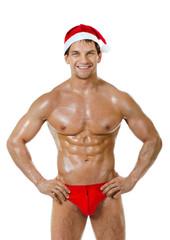 sexy man Santa Claus